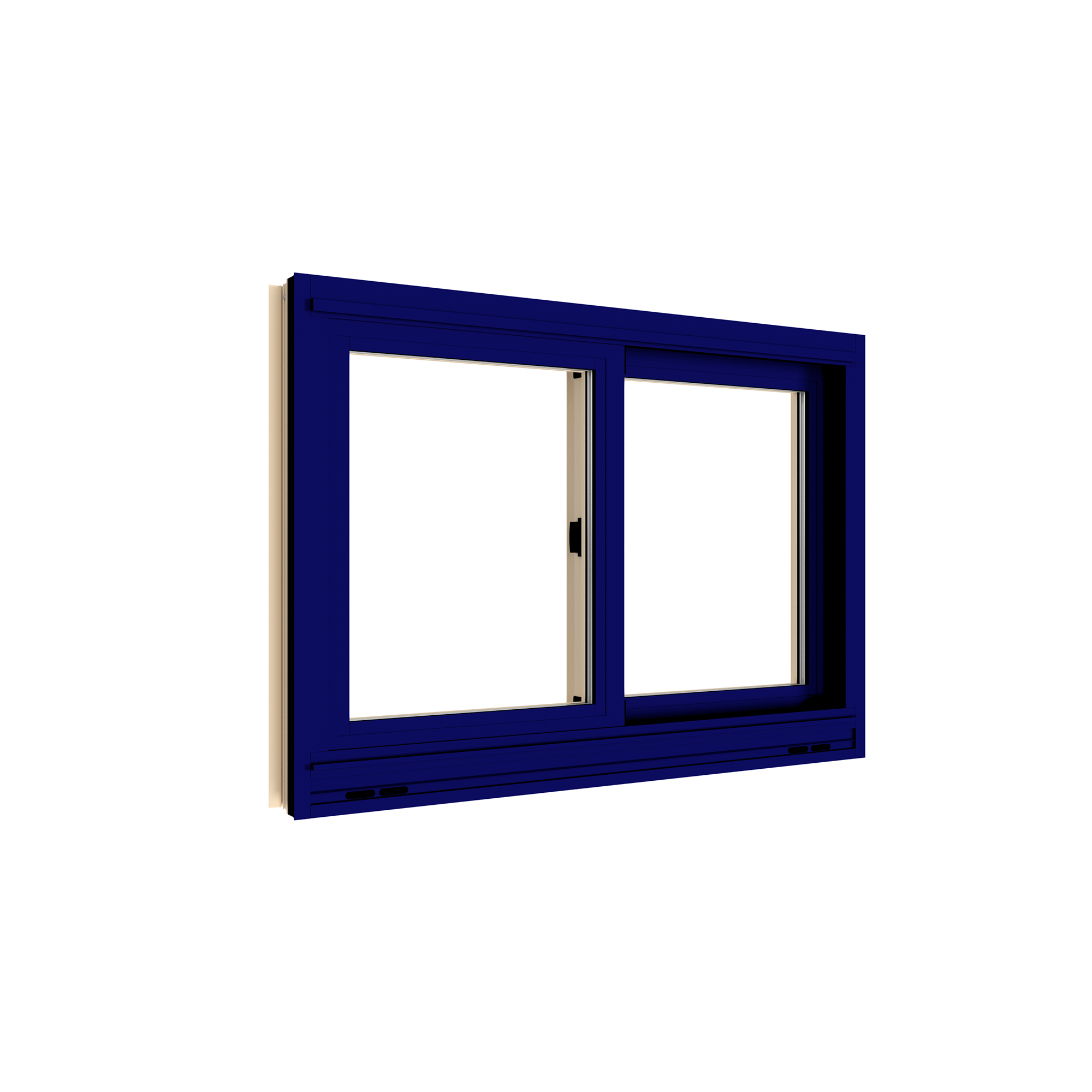 Exterior View, Insulated Glass with Sash Lock sash lock